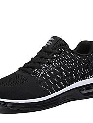 baratos -Homens Sapatos Confortáveis Couro Ecológico Inverno Tênis Corrida Preto / Preto / Vermelho / Vermelho