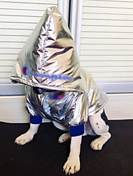 baratos -Cachorros Casacos Camisola com Capuz Inverno Roupas para Cães Prata Ocasiões Especiais Plumagem Sólido Fantasias S M L XL