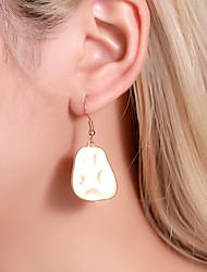 cheap -Women's Ear Piercing Drop Earrings Earrings Classic Mini Earrings Jewelry Black / Gold / Silver For Engagement Gift Daily Street Club