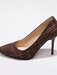 cheap -Women's Heels Stiletto Heel Pointed Toe PU Classic / British Spring &  Fall Black / Dark Brown / Dark Blue / Party & Evening