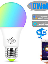 cheap -WiFi Smart Bulb 10W Alexa Voice RGB Bulb Mobile Phone App Remote Control Bulb