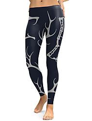 cheap -Women's Dailywear / Yoga Sporty / Basic Legging - Geometric, Print Low Waist Gray S M L