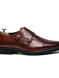 baratos -Homens Sapatos formais Couro Ecológico Outono & inverno Mocassins e Slip-Ons Preto / Marron