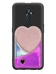 cheap -Case For OPPO F11 Pro / OPPO Reno 10X / OPPO Reno2 Z  Card Holder / with Stand / Ultra-thin Back Cover Love Pattern PU Leather / TPU Case For OPPO Reno / OPPO Realme X