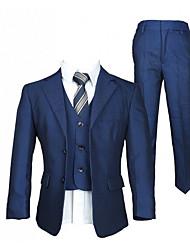 cheap -Black / Dark Navy Polyester Ring Bearer Suit - 1 Piece Includes  Coat / Vest / Shirt