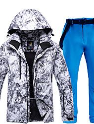 cheap -ARCTIC QUEEN Men's Activewear Set Ski Jacket with Pants Skiing Snowboarding Winter Sports Windproof Warm Detachable Cap POLY Eco-friendly Polyester Pants / Trousers Tracksuit Top Ski Wear