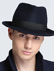cheap -Unisex Work Basic Wool Cotton Bucket Hat Fedora Hat-Solid Colored Fall Winter Black