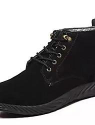 baratos -Homens Sapatos Confortáveis Pele Inverno Botas Botas Curtas / Ankle Amarelo / Cinzento