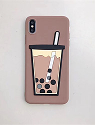 cheap -Funny Boba Pearl milk tea soft cover11 11pro apple X xs max mobile phone shell for iphone 8 7plus 6s 6 XR all inclusive silicone