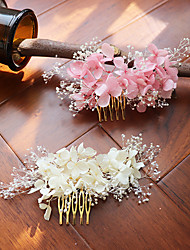 cheap -Dried Flower Hair Combs with Floral 1 Piece Wedding / Party / Evening Headpiece