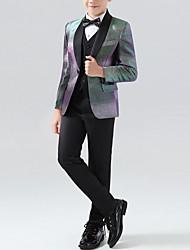 cheap -Black Polyester Ring Bearer Suit - 1 Piece Includes  Coat / Vest / Shirt