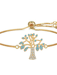cheap -Women's Chain Bracelet Geometrical Tree of Life Fashion Gold Plated Bracelet Jewelry Black / Rose Gold / Gold For Gift Daily