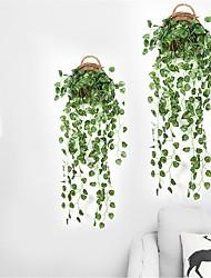 abordables -90 cm fête maison hôtel Tenture murale décoration artificielle pastèque raisins feuille soie plantes plantes feuilles rotin vigne