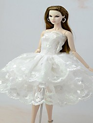 cheap -Barbie Doll White Lace Angel's Wing Dress
