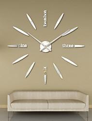 cheap -Fashion Acrylic Modern DIY Wall Clock 3D Mirror Surface Sticker Home Office Decor