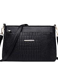 cheap -Women's Zipper Faux Leather / PU Crossbody Bag Crocodile Black / Wine