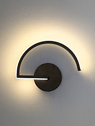 cheap -Nordic Line Black And White Creative Personality Wall Lamp Designer Decorative Led Bedroom Bedside Modern Corridor Wall Lamp