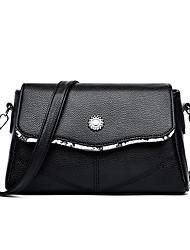 cheap -Women's Rivet Faux Leather / PU Crossbody Bag Striped Black / Wine