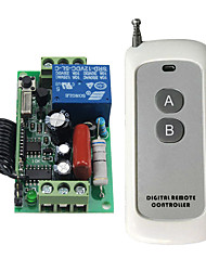 cheap -High Quality AC 220V 10A 1CH RF 433MHz Wireless Remote Control Switch Receiver  Transmitter Kit