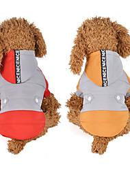 baratos -Cachorros Casacos Camisola com Capuz Inverno Roupas para Cães Amarelo Vermelho Ocasiões Especiais Plumagem Retalhos Fantasias XS S M L XL