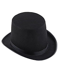cheap -Unisex Party Work Cotton Linen Bucket Hat-Solid Colored All Seasons Black