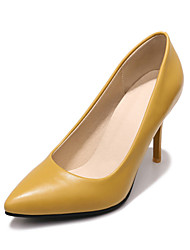 cheap -Women's Heels Stiletto Heel Pointed Toe PU Classic / British Spring &  Fall Black / Light Brown / Yellow / Party & Evening