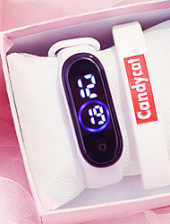 cheap -Girls' Digital Watch New Arrival Minimalist Black White Blue Silicone Chinese Digital Black White Blushing Pink Creative Luminous LED Light 2pcs Digital One Year Battery Life