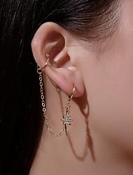 cheap -Women's Ear Piercing Ear Cuff Earrings Classic Star Earrings Jewelry Gold / White / Gold For Street Holiday Club Bar Festival