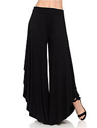 cheap -Women's Boho Wide Leg / Chinos Pants - Solid Colored Black Purple Army Green S M L