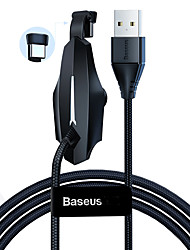 cheap -Baseus Colorful Sucker RPG Data Cable USB for Type-C 3A 1.2m Black