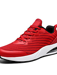 cheap -Men's Comfort Shoes Mesh Fall / Spring & Summer Sporty / Casual Athletic Shoes Running Shoes / Fitness & Cross Training Shoes Breathable Black / Red / White / Red