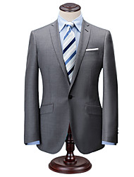 cheap -Classic solid gray tweed wool custom suit