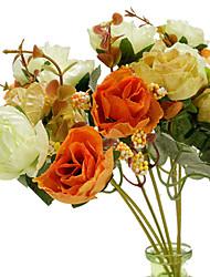 cheap -Simulation 0f 21 Diamond Roses European Simulation Roses Home Wedding Decoration 1 Bouquet 28*16*10cm