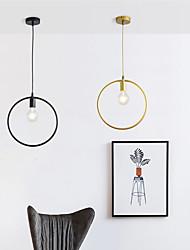 cheap -1-Light Ring chandelier metal creative chandelier bedroom lamp