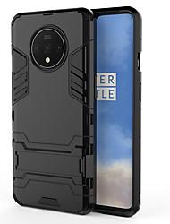 Недорогие -Кейс для Назначение OnePlus OnePlus 6 / OnePlus 5T / Oneplus 7 Защита от удара / со стендом Кейс на заднюю панель Однотонный ПК