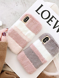 cheap -Case for iPhone 11Pro Max Mobile Phone Case Autumn And Winter New Stitching Color Plush XS Max Small Fresh Female Plush 6/7 / 8Plus Silicone Mobile Phone Protective Shell