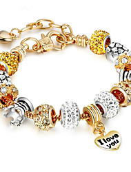 cheap -Women's Chain Bracelet Geometrical Flower Fashion Rhinestone Bracelet Jewelry Gold For Gift Daily