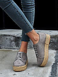 cheap -Women's Sneakers Flat Heel Round Toe Suede Vintage / Casual Spring &  Fall / Spring & Summer Black / Leopard / Gray