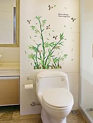 abordables -Sk9190 riche en bambou papillon chambre salon fond sticker mural décoration amovible