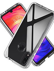 cheap -Case For Xiaomi Xiaomi Redmi Note 7 / Xiaomi Redmi Note 7 Pro Shockproof / Transparent Back Cover Transparent TPU