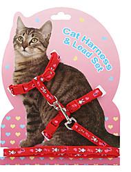 cheap -Cat Harness Leash Adjustable / Retractable Cartoon Nylon Brown Rainbow Purple