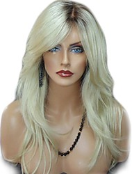 cheap -Synthetic Wig Straight Wavy Kardashian Middle Part Side Part Wig Long Light Blonde Synthetic Hair 26inch Women's Adjustable Heat Resistant Classic Blonde / Ombre Hair / Natural Hairline