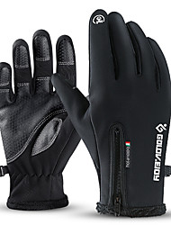 cheap -Winter Gloves Running Gloves Full Finger Gloves Anti-Slip Touch Screen Thermal Warm Outdoor Cold Weather Women's Men's Zipper Skiing Hiking Running Driving Cycling Winter / Lightweight