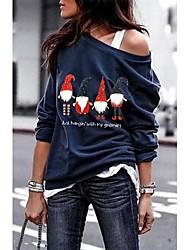 cheap -Women's Pullover Sweatshirt Print Casual Hoodies Sweatshirts  Black Navy Blue Gray