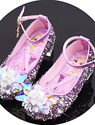 cheap -Girls' Flower Girl Shoes Synthetics Flats Little Kids(4-7ys) / Big Kids(7years +) Crystal / Sequin / Buckle Purple / Blue / Pink Spring / Fall