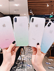 cheap -Case For Apple iPhone 11 / iPhone 11 Pro / iPhone 11 Pro Max Transparent / Glitter Shine Back Cover Color Gradient TPU