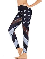 cheap -Women's High Waist Yoga Pants Leggings Butt Lift Quick Dry Star Black Gym Workout Running Fitness Sports Activewear High Elasticity Slim
