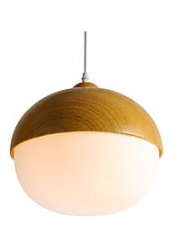 cheap -ZHISHU Globe Pendant Light Ambient Light Painted Finishes Wood / Bamboo Acrylic LED 110-120V / 220-240V Warm White / White / Wi-Fi Smart