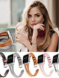 Недорогие -Мода печати кожаный ремешок для часов для серии Apple Watch 5/4/3/2/1 сменный браслет ремешок на запястье браслет 38 / 40mm 42 / 44mm