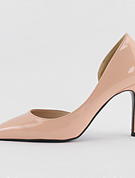 cheap -Women's Heels Stiletto Heel Pointed Toe Patent Leather Minimalism Spring &  Fall / Spring & Summer Black / Nude / White
